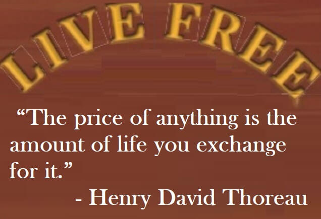 Henry David Thoreau Quote - The price of anything is the amount of life you exchange for it.
