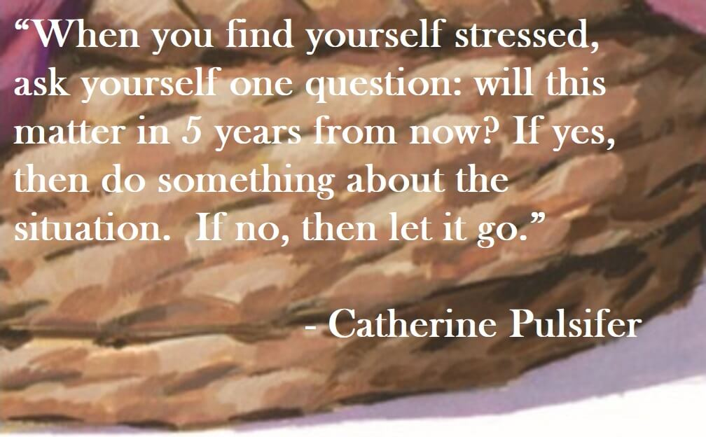 Catherine Pulsifer Quote on Hoist Point - When you find yourself stressed, ask yourself one question: will this matter in 5 years from now? If yes, then do something about the situation. If no, then let it go.