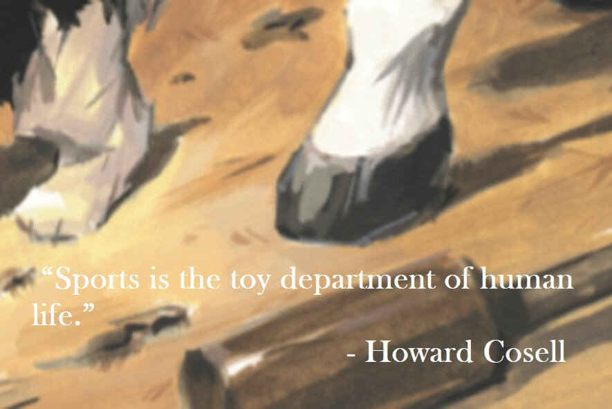 Howard Cosell Quote on Hoist Point Sports is the toy department of human life.