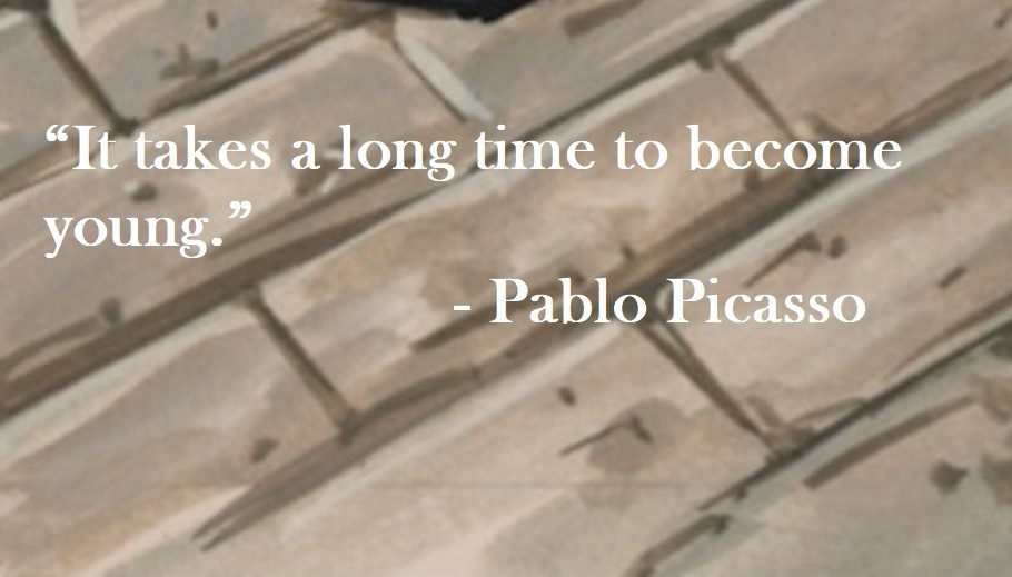 """It takes a long time to become young."" Pablo Picasso Quote on Hoist Point"